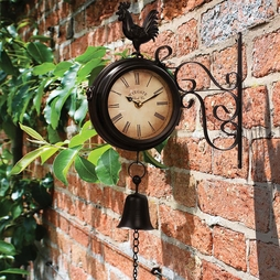 Wall Mounted Metal Rooster Clock - Gift