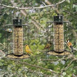 Large Seed & Nut Bird Feeder Pack Of Two