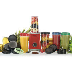 Cooks Professional Multi Blender Cup Set 5 Cup Set Red