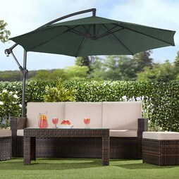 Garden Gear Cantilever Parasol Green With cover