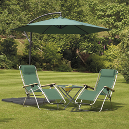 Cantilever Garden Parasol Green