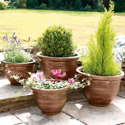 ANTIQUE EFFECT PLANTERS 4 PACK