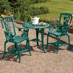 ThreePiece Rose Armchair Bistro Set Verdi