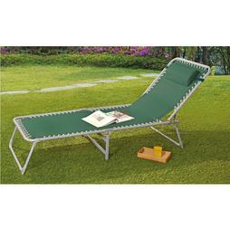 Garden Lounger Bed Green