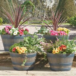 Half Barrel Planters 4 Pack