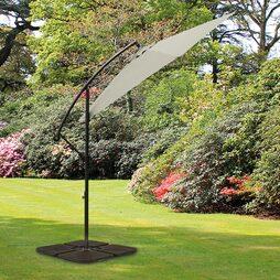 Garden Gear Cantilever Parasol Pale Grey
