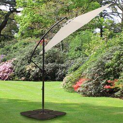 Cantilever Garden Parasol Cream