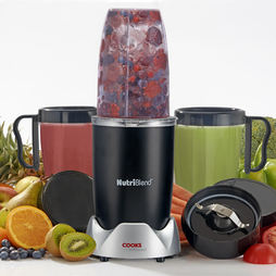 Cooks Professional Nutriblend 700w Blender 10piece Nutriblend Black