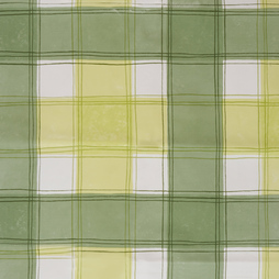 PVC Tablecloth 54 x 54 Green Check