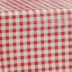 PVC Tablecloth 54 Round Red Gingham