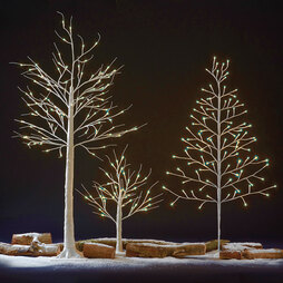 96 LED 1.5m Silver Birch Tree