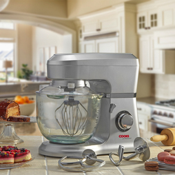 Cooks Professional Stand Mixer with Stainless Steel Bowl Silver