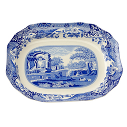Spode Blue Italian Dinnerware Collection Oval Platter