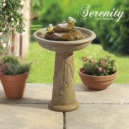 Ornamental Bird Fountain Bath