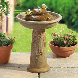 Ornamental Bird Fountain Bath