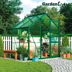 Garden Grow Traditional Greenhouse 6.2X4.3X6.6ft Silver
