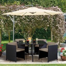 5 Piece Sorrento Cubic Rattan Set -Black
