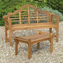 Natural Lutyens Style Bench
