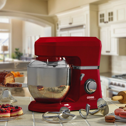 Cooks Professional Stand Mixer with Stainless Steel Bowl Red