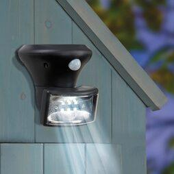 Solar PIR Porch Spotlight-Black