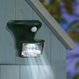 Solar PIR Porch Spotlight-Green