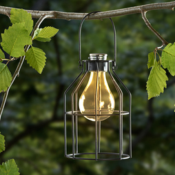 Solar Hanging Cage Lantern