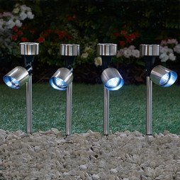 STAINLESS STEEL SOLAR SPOTLIGHT FOUR PACK