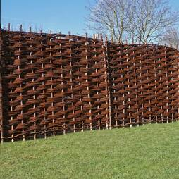 6ft x 3ft Bunched Willow Hurdle Decorative Woven Garden Fencing Panel