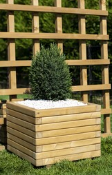 Large 60cm Square Wooden Planter