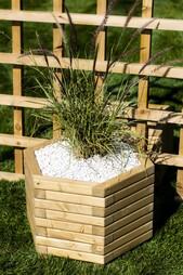 Small 50cm Hexagon Wooden Planter