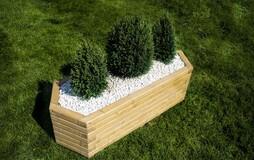 Small 70cm Long Hexagon Wooden Planter