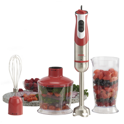 Cooks Professional 3 in 1 800W Handheld Stick Blender Red