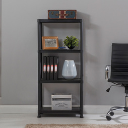 4 Tier Plastic Shelving Rack