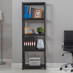 5 Tier Plastic Shelving Rack