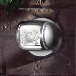 6 Led Porch Sensor Light Silver