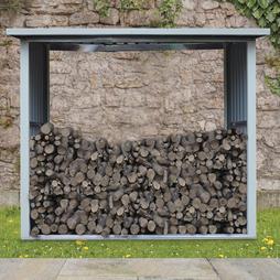 Metal Log Store 6X3X5.1Ft Dark Green