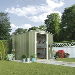 APEX METAL SHED 7 x 6.3FT - LIGHT GREEN