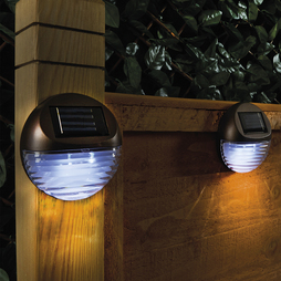 Round Solar Fence Lights Set Of 4