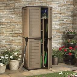 4 Shelf Utility Cabinet Choc/Moc