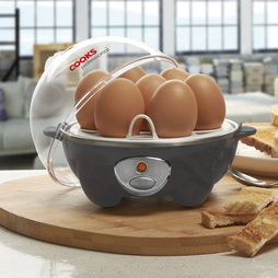 Cooks Professional Egg Boiler and Poacher Grey