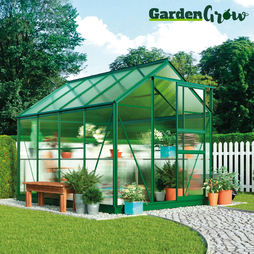Garden Grow Traditional Greenhouse 6.2X6.2X6.6ft Green