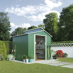 Skylight Metal Shed 7.2X4.2Dark Green