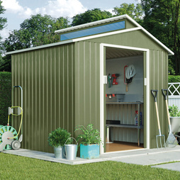 Skylight Metal Shed 7.2X6.3-Light Green