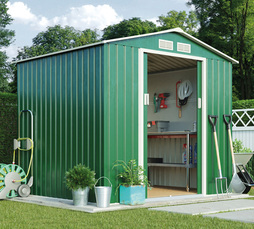 Apex Metal Shed 9.1X6.3Ft Dark Green