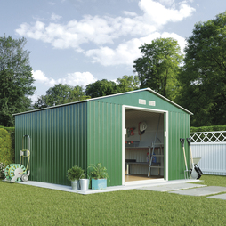 Apex Metal Shed 11.2X10.5Ft Dark Green