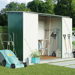Compact Pent Metal Shed 7X5FtDark Green