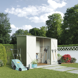 Compact Pent Metal Shed 7X5Ft-Light Green