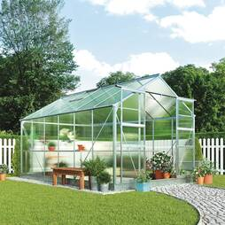 Greenhouse 8.1X12.1X7.4ft Green