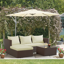 Havana Rattan Brown With Cream Cushion