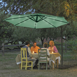 Solar Led Parasol - Green